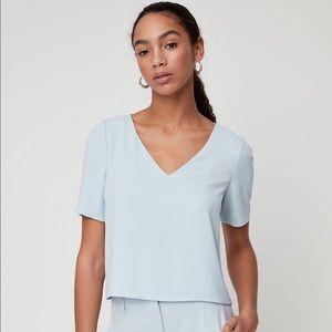 Aritzia Babaton 'Randy' blouse in powder blue